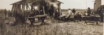 Das erste Siedlerhaus