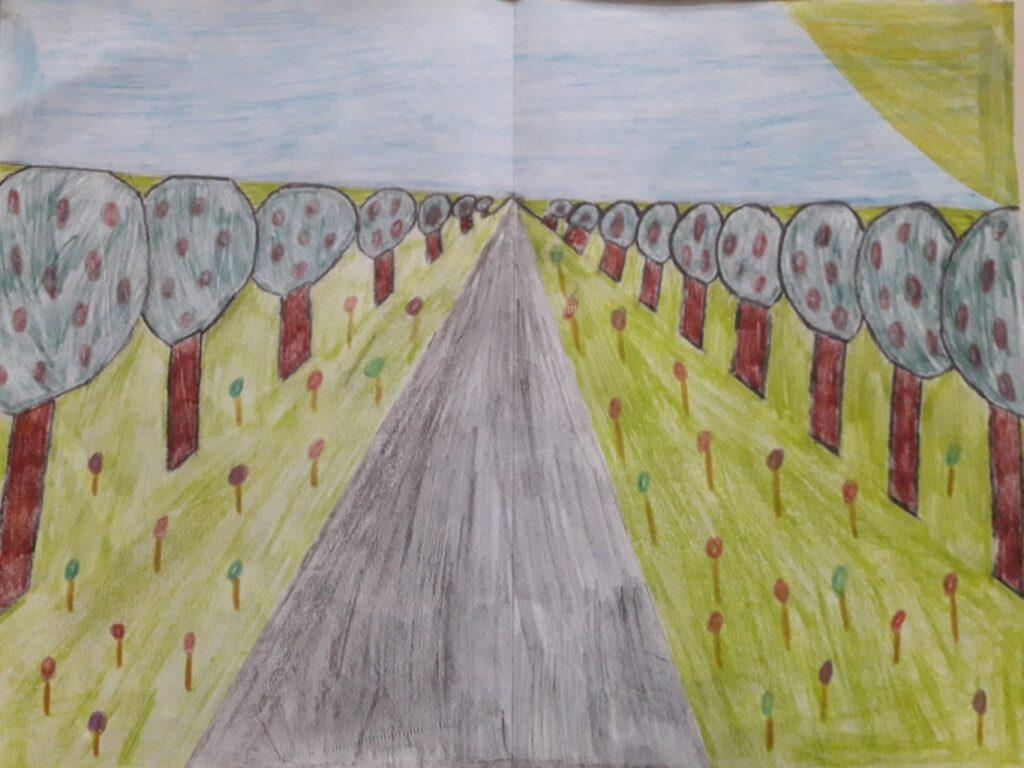 Kunst in der 7. Klasse - Perspektive