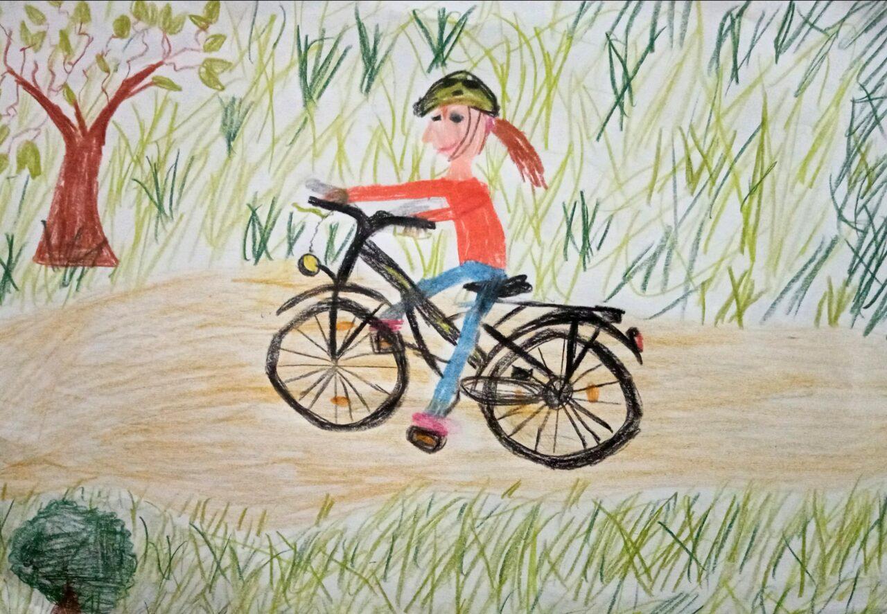 Mein Fahrrad und ich - Kunst in der 4. Klasse