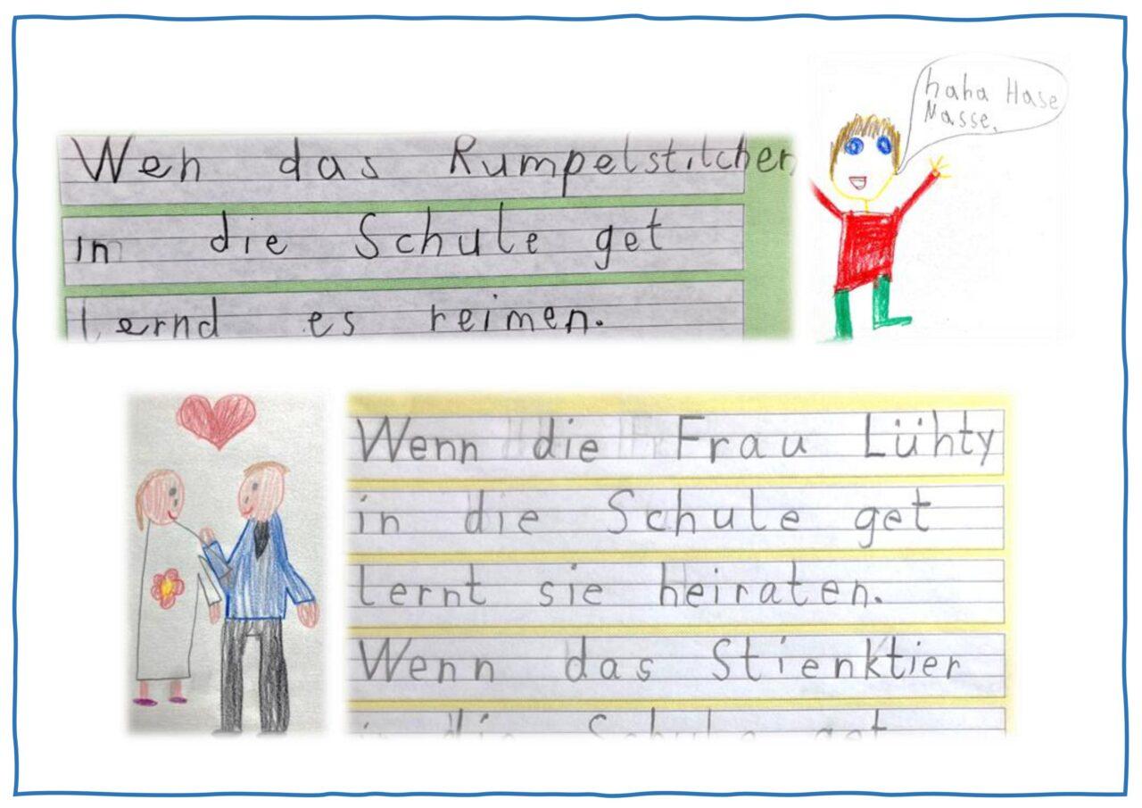 """Wir schreiben zum Bilderbuch """"Wenn ein Löwe in die Schule geht"""" von F. Hofbauer und P. Probst"""